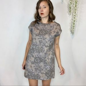 WILFRED floral cotton shift dress pockets 1272